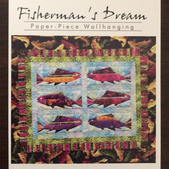 Fisherman's Dream Paper Pieced Wallhanging Pattern